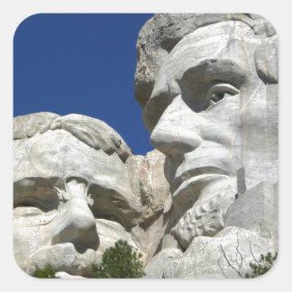 Detalle del monte Rushmore Pegatina Cuadrada