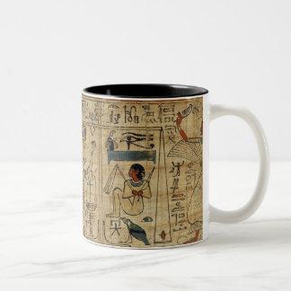 Detalle del papiro de Nespakashuty, nuevo Kingd Taza De Café De Dos Colores