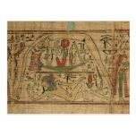 Detalle del papiro de Nespakashuty que muestra el  Postales