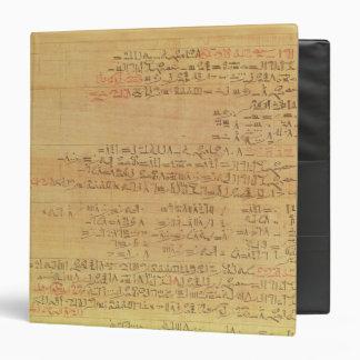 "Detalle del papiro matemático de Rhind Carpeta 1 1/2"""