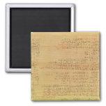 Detalle del papiro matemático de Rhind Imán Para Frigorífico