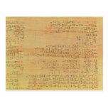 Detalle del papiro matemático de Rhind Postal