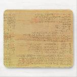 Detalle del papiro matemático de Rhind Tapete De Ratón