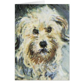 Detalle del perro de la pintura de Claude Monet Tarjeta Pequeña