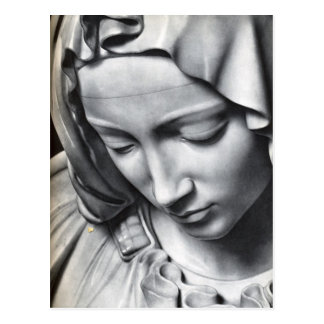 Detalle del Pieta de Miguel Ángel de la cara del Postales