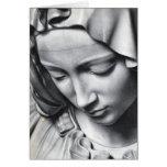 Detalle del Pieta de Miguel Ángel de la cara del V Tarjetas