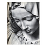Detalle del Pieta de Miguel Ángel de la cara del V Tarjeta Postal