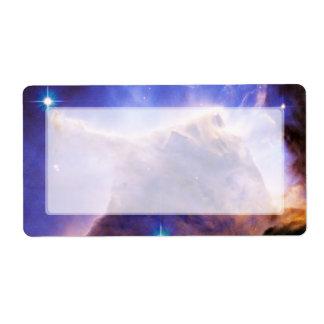 Detalle del pilar de la nebulosa de Eagle Hubble Etiqueta De Envío