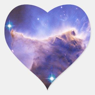 Detalle del pilar de la nebulosa de Eagle (Hubble) Pegatina En Forma De Corazón