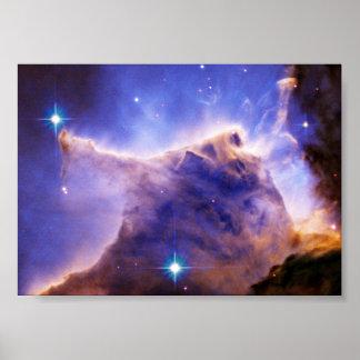 Detalle del pilar de la nebulosa de Eagle (Hubble) Póster