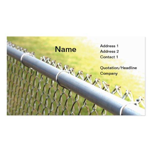 detalle del primer de una cerca de la alambrada de tarjeta de negocio