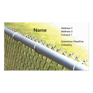 detalle del primer de una cerca de la alambrada tarjetas de visita