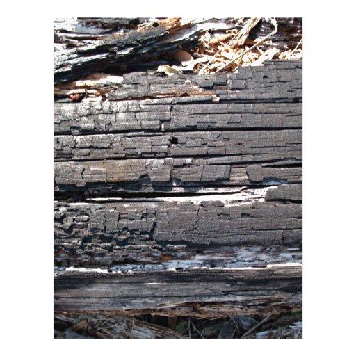 """Detalle del registro de madera quemado con la supe folleto 8.5"""" x 11"""""""
