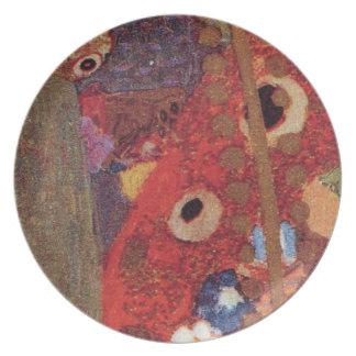 Detalle del rojo azul de no. 3 Brown de Nouveau Kl Plato