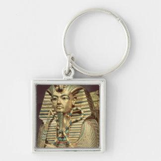 Detalle del segundo ataúd del mummiform llavero cuadrado plateado