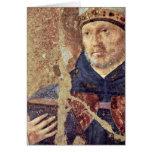 Detalle del St. Benedicto de Antonello DA Messina Tarjeta De Felicitación