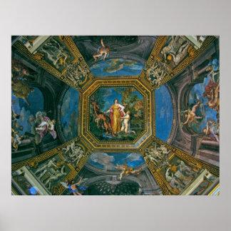 Detalle del techo de la capilla de Sistine Póster