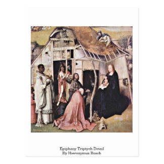 Detalle del tríptico de la epifanía de Hieronymus  Tarjeta Postal