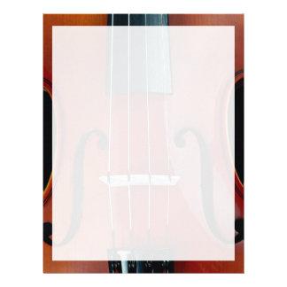 Detalle del violín y de secuencias membrete