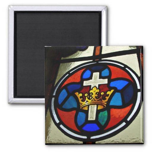 Detalle del vitral imanes de nevera
