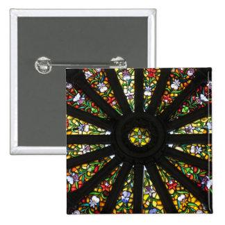 Detalle del vitral pin cuadrada 5 cm