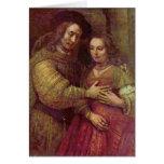 Detalle judío de la novia de Rembrandt Van Rijn Tarjeta