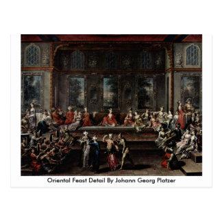 Detalle oriental del banquete de Juan Jorge Platze Postal