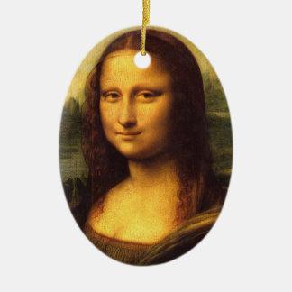 Detalle principal de Mona Lisa - Leonardo da Vinci Adorno Ovalado De Cerámica