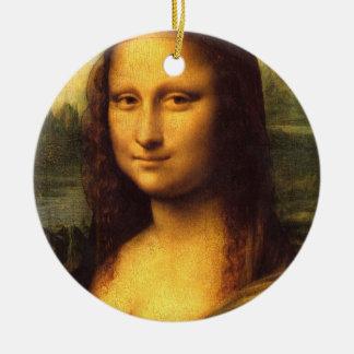 Detalle principal de Mona Lisa - Leonardo da Vinci Adorno Redondo De Cerámica