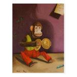 detalle travieso del niño (mono) tarjeta postal