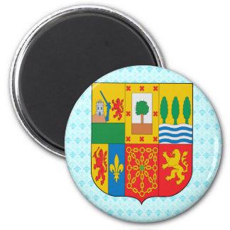 Detalle vasco del escudo de armas imán redondo 5 cm