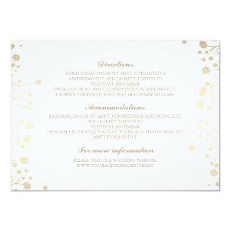 """Detalles blancos del boda de la respiración del invitación 4.5"""" x 6.25"""""""