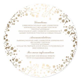 """Detalles blancos del boda de la respiración del invitación 5.25"""" x 5.25"""""""