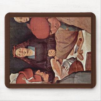 Detalles campesinos del boda por Bruegel D. Ä. Tapetes De Raton