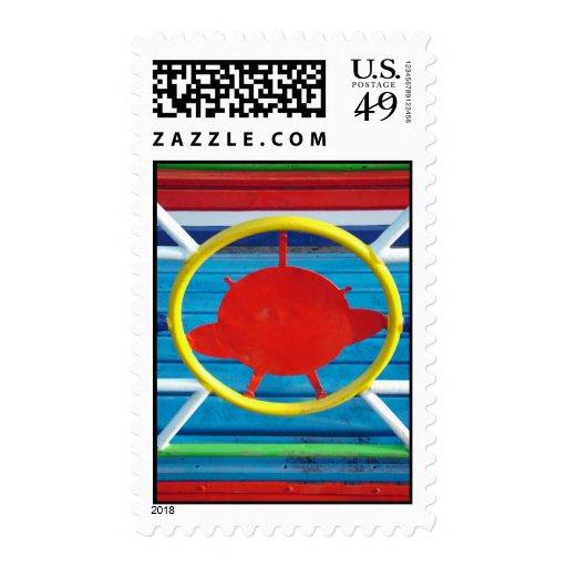 Detalles coloridos sello