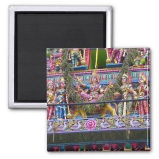 Detalles de Gopuram Imán Cuadrado