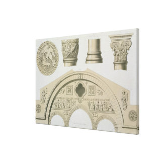 Detalles de un arco esculpido y columnas del St. Impresión De Lienzo