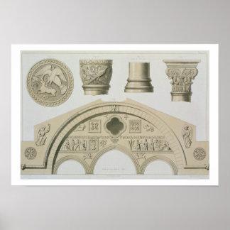 Detalles de un arco esculpido y columnas del St Posters
