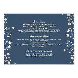 """Detalles del boda de la marina de guerra de la invitación 4.5"""" x 6.25"""""""