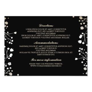 """Detalles del boda del negro de la respiración del invitación 4.5"""" x 6.25"""""""