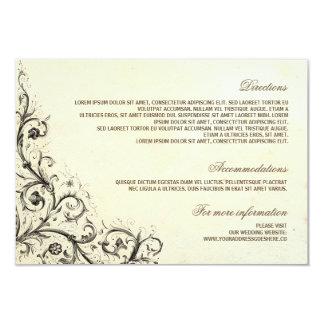 """Detalles del boda del vintage - tarjetas de invitación 3.5"""" x 5"""""""