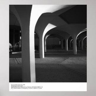 Detalles del campus del UCSD de Ansel Adams Poster