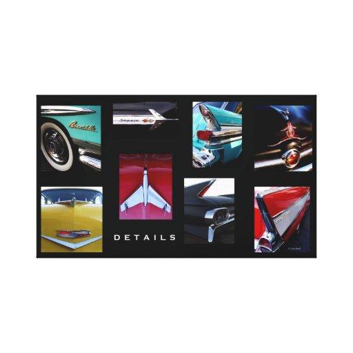 Detalles del coche de carreras impresión en tela