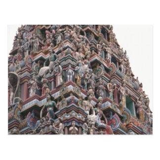 Detalles del gopuram postal