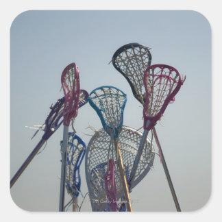 Detalles del juego de LaCrosse Pegatina Cuadrada