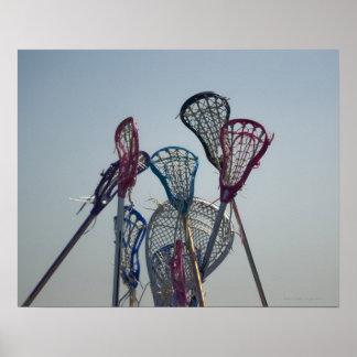 Detalles del juego de LaCrosse Póster