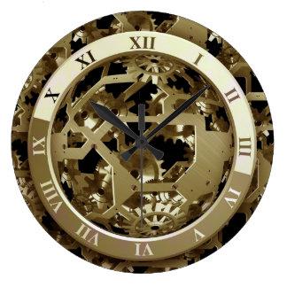 Detalles del tiempo reloj redondo grande