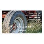 detalles del tractor tarjetas de visita
