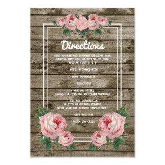 """Detalles florales del boda del vintage elegante invitación 3.5"""" x 5"""""""