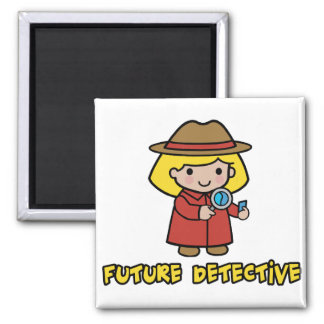 Detective 2 Inch Square Magnet